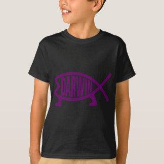 Camiseta Peixes originais de Darwin (violetas)