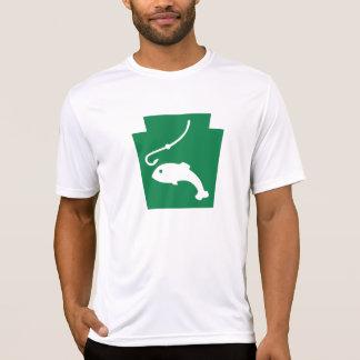 Camiseta Peixes trapezóides - o Microfiber T dos homens