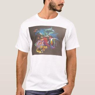 Camiseta Peixes tropicais do recife de corais