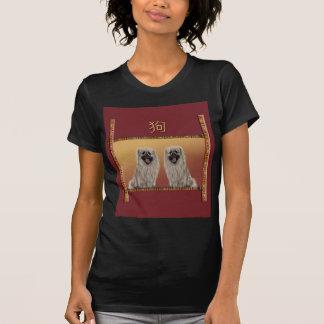 Camiseta Pekingese no ano novo chinês do design asiático,