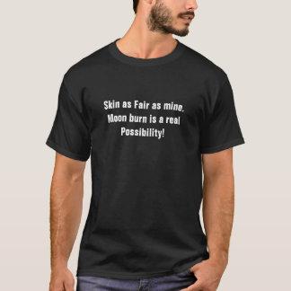 Camiseta Pele tão favoravelmente quanto meus. A queimadura