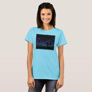 Camiseta Pelicanos na praia - o t-shirt das mulheres