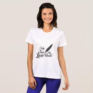 Camiseta Pena verdadeira do amor da ilustração