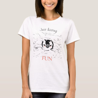Camiseta Penguin - Just having fun