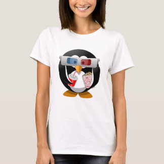 Camiseta Penguin watching a movie