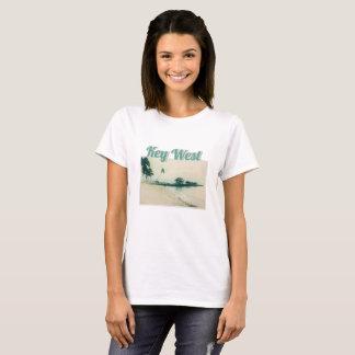 Camiseta Península da palmeira na praia de Smathers, Key