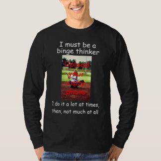 Camiseta Pensador do frenesi - transfira arquivos pela rede
