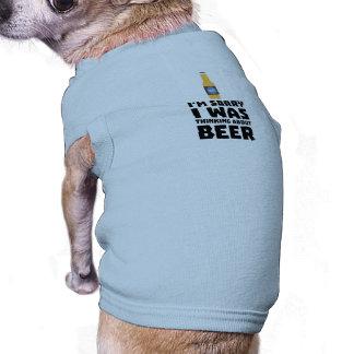 Camiseta Pensamento sobre a garrafa de cerveja Z860x