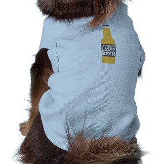 Camiseta Pensamento sobre a garrafa de cerveja Zjz0m