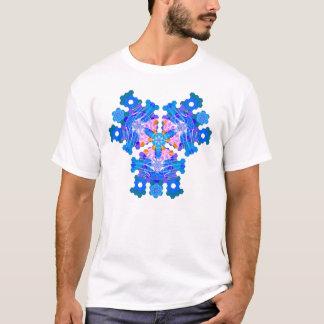 Camiseta Pensamentos geométricos (azuis)