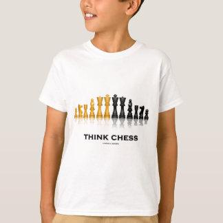 Camiseta Pense a xadrez (o grupo de xadrez)