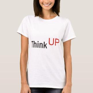 Camiseta pense acima do slogan da técnica de alexander