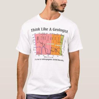 Camiseta Pense como um geólogo