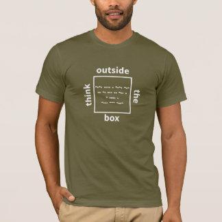 Camiseta Pense fora da caixa - verifique dentro da caixa