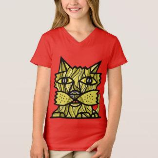 """Camiseta """"Pense para o senhor mesmo"""" o t-shirt do V-Pescoço"""