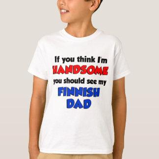 Camiseta Pense que eu sou pai finlandês considerável
