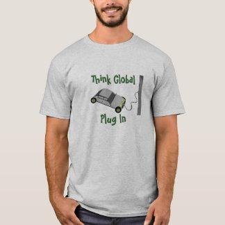 Camiseta Pense que global… obstrua dentro