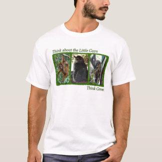 Camiseta Pense sobre o t-shirt pequeno das caras