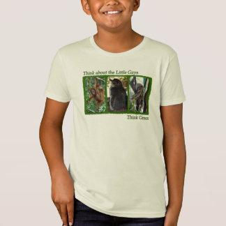 Camiseta Pense sobre o t-shirt pequeno dos miúdos das caras