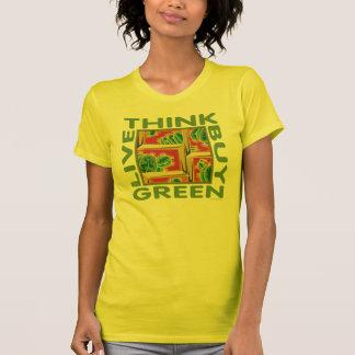Camiseta Pense verde, cacto