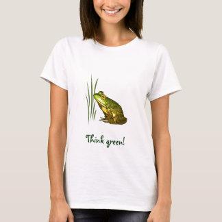 Camiseta Pense verde da princesa Encantador