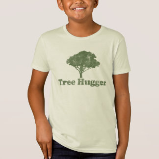 Camiseta Pense verde de Hugger da árvore