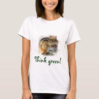 Camiseta Pense verde do Chipmunk