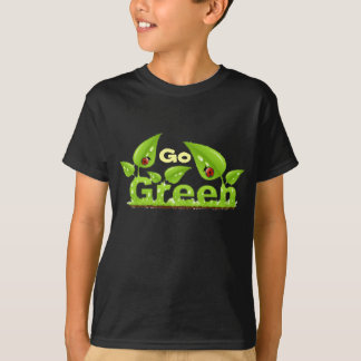 Camiseta Pense verde do joaninha