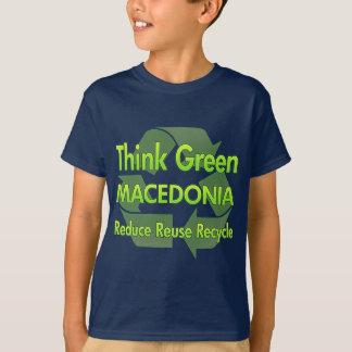 Camiseta Pense verde Macedónia
