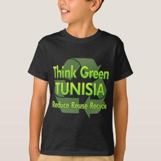 Camiseta Pense verde Tunísia