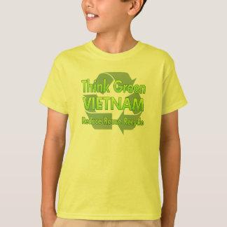 Camiseta Pense verde Vietnam