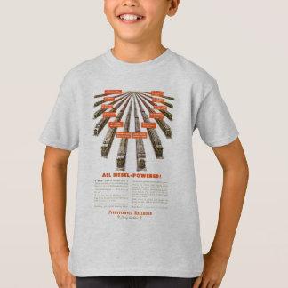 Camiseta Pensilvânia Railroads leste-oeste agora todo o