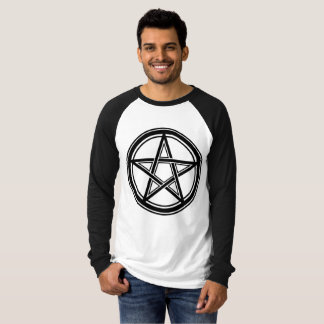 Camiseta Pentagram - 666 - Hail Satanás - Sleeve
