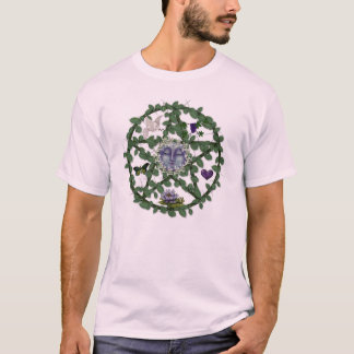 Camiseta Pentagram da folha com lua
