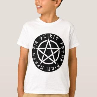 Camiseta Pentagram Runic preto de Wiccan