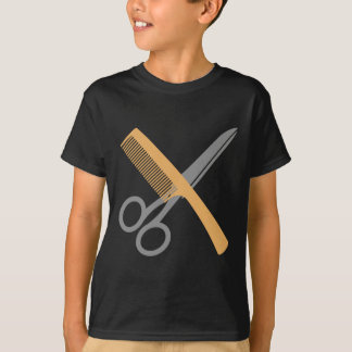 Camiseta Pente e tesouras de Schere do und de Kamm