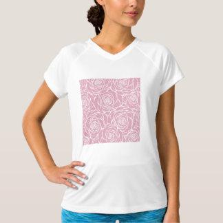 Camiseta Peônias, floral, branco, cor-de-rosa, teste