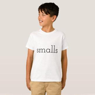 Camiseta pequenas mercadorias, miúdos