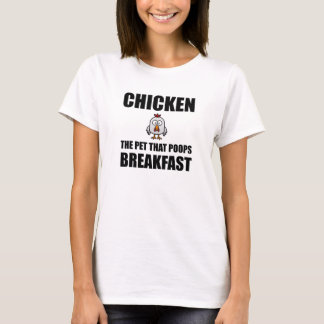 Camiseta Pequeno almoço do tombadilho das galinhas