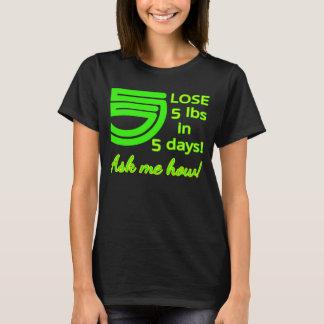 Camiseta PERDER 5 libras em 5 dias!