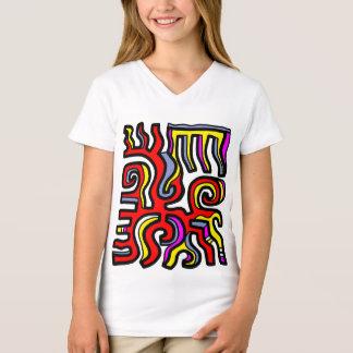 """Camiseta """"Perdoe"""" o t-shirt do V-Pescoço das meninas"""