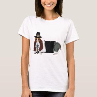 Camiseta Peregrino da acção de graças de Basset Hound