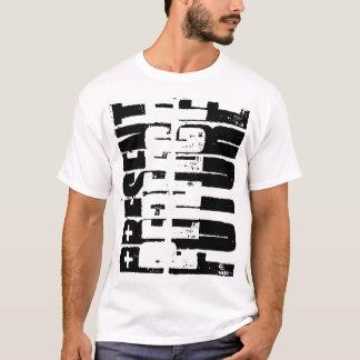 Camiseta Perfeito futuro.  Perfeito atual.  Tempo passado