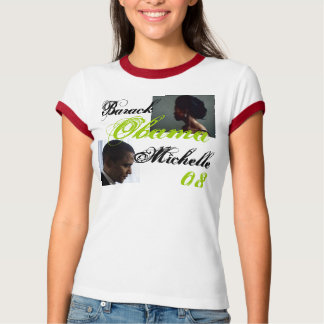 Camiseta Perfil de Obama, perfil de Michelle, Barack,