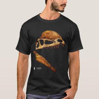 Camiseta Perfil do crânio do Dilophosaurus