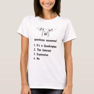 Camiseta Perguntas de Quadcopter respondidas