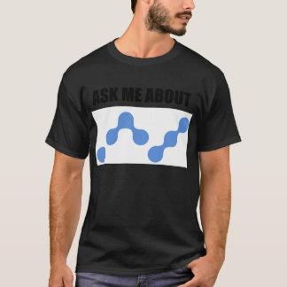 Camiseta Pergunte-me sobre a moeda Nano