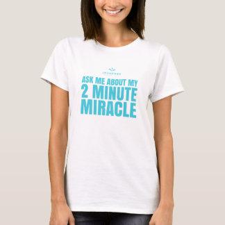 Camiseta Pergunte-me sobre meu milagre 2 minuto, Jeunesse