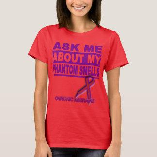 Camiseta Pergunte-me sobre meus cheiros fantasmas - T