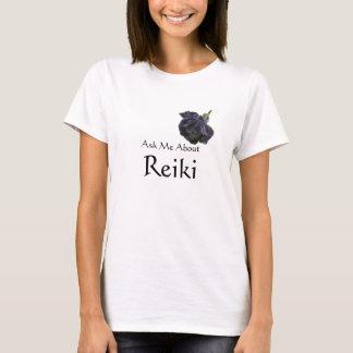 Camiseta Pergunte-me sobre o rosa do roxo de Reiki